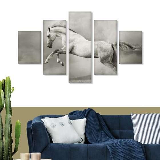 Quadro Cavalo Branco Animais Decorativo