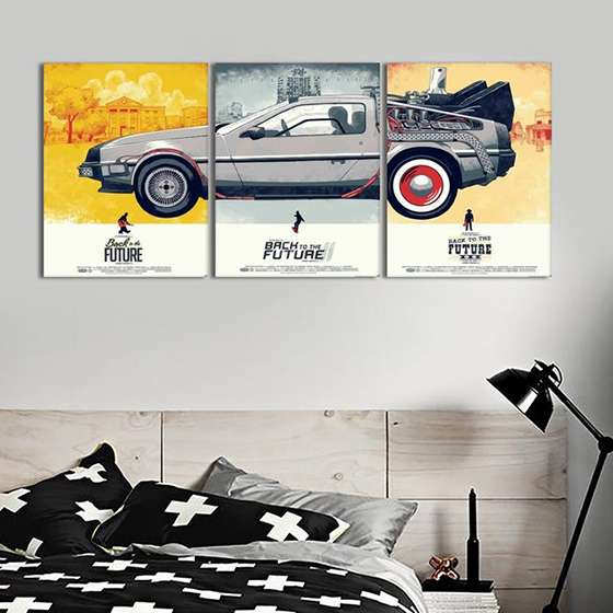 Quadro Delorean filme decorativo