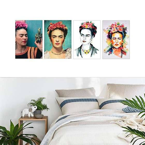 Quadro frida kahlo decorativo