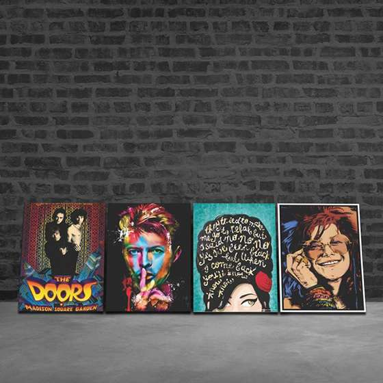 Quadros Amy Winehouse e Ícones Do Rock Decorativo
