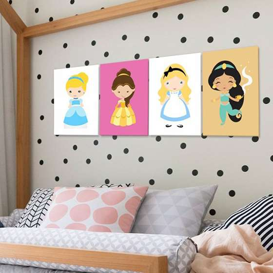 Quadros Princesas disney infantil decorativo