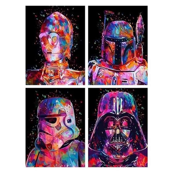Quadro Para Decoração Star Wars Colorido