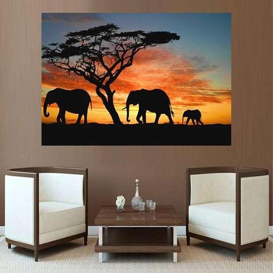 Quadro elefante colorido decor sala africa india