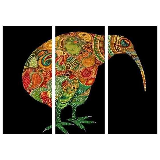 Quadro Mandala Animais Dodo para Decoração interiores