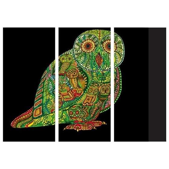Quadro mandala animais coruja para decoração interiores