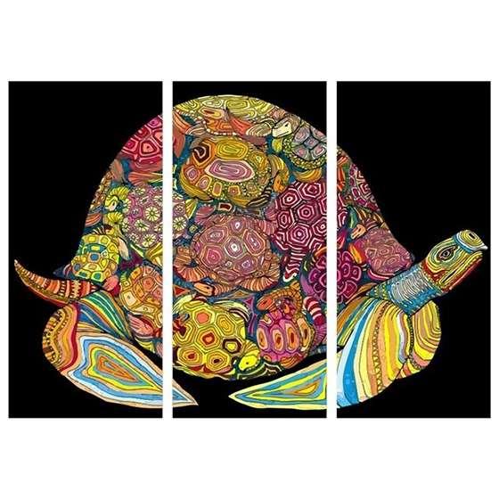 Quadro Mandala Animais Tartaruga para Decoração interiores
