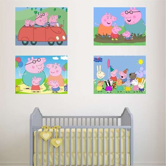 Quadro Peppa pig decorativo infantil