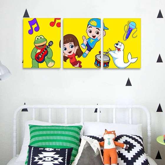 Quadro infantil luccas neto e sua turma decorativo