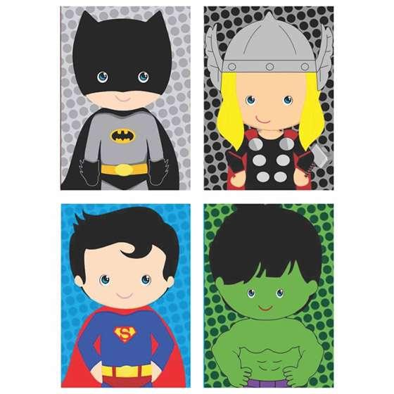 Quadro Super Heróis Marvel Decorativo