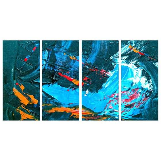 Quadro abstrato azul oceano decorativo