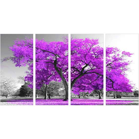 Quadro Arvore lilas decorativo