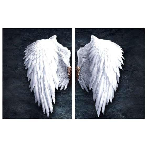Quadro asas de anjo decorativo