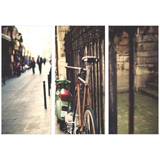 Quadro bicicleta europa passeio decorativo