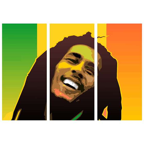 Quadro bob marley abstrato decorativo