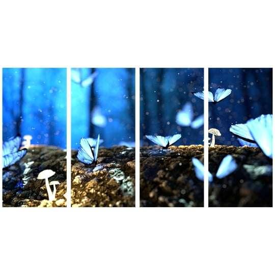 Quadro borboleta azul floresta natureza decorativo