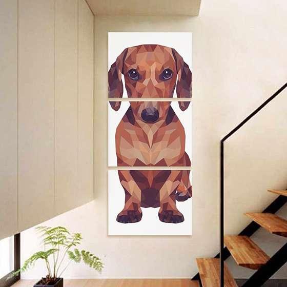 Quadro Cachorro Poligonal para decorar