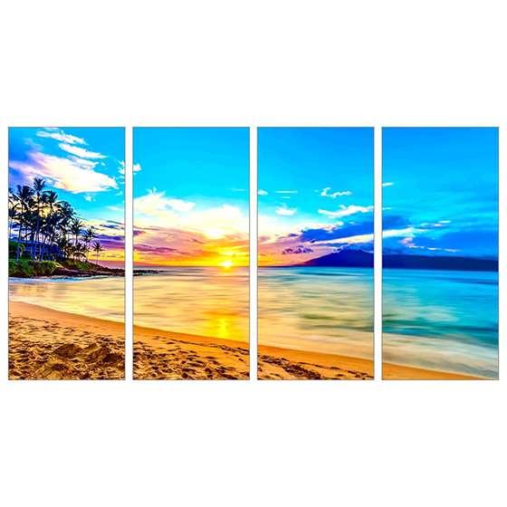 Quadro caribe paisagem praia decorativo