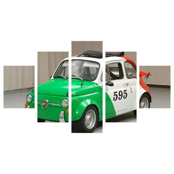 Quadro carro classico fiat 500 italiano para decorar