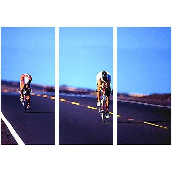 Quadro ciclista corrida fotografia decorativo
