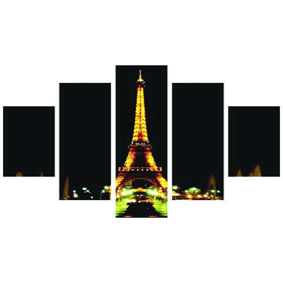 Quadro Torre Eiffel França Noturno Decorativo
