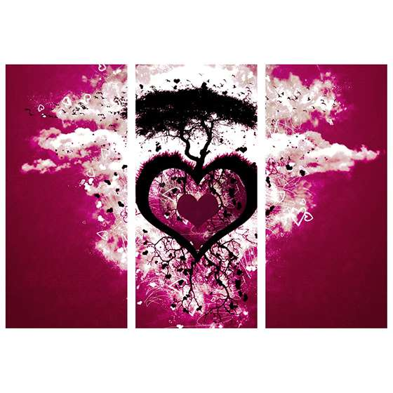 Quadro coraçao arvore amor decorativo