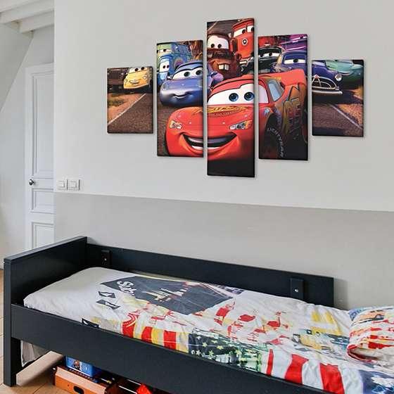 Quadro filme carros animados decorativo
