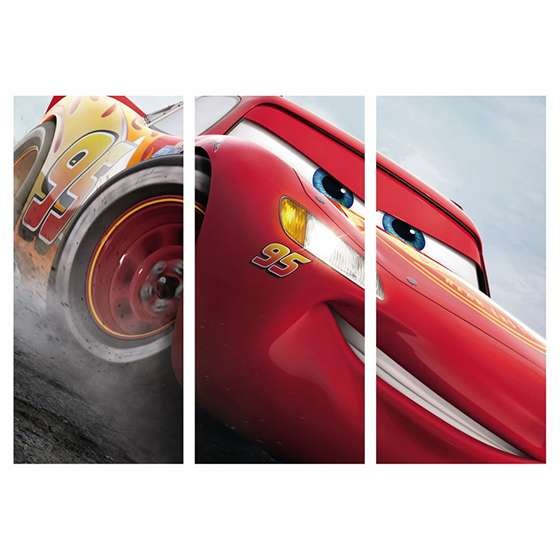 Quadro filme carros relampago mc queen decorativo