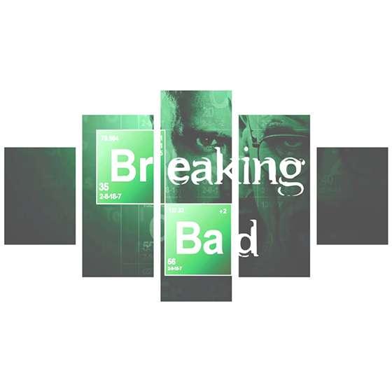 Quadro decorativo Breaking Bad Logo 5 peças