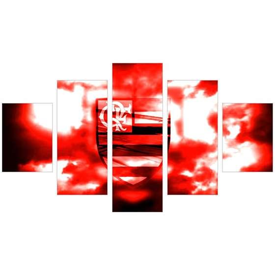 Quadro flamengo escudo flamejante decorativo