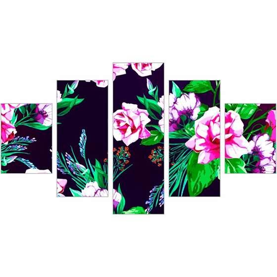 Quadro Decorativo Flores Rosas Coloridas Para Sua Casa