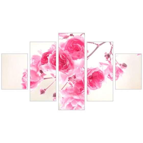 Quadro flores rosas decorativo
