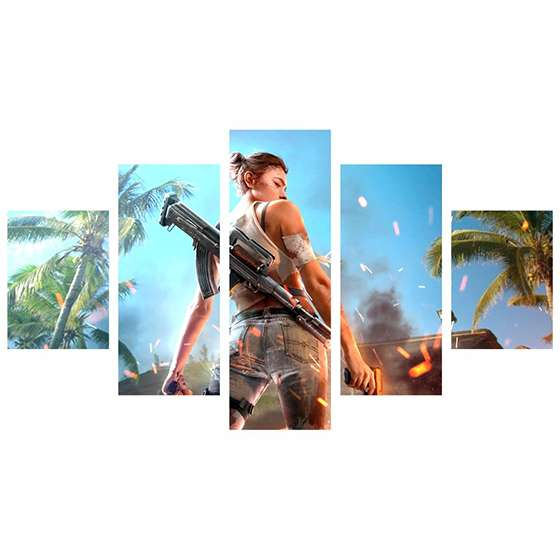 Quadro free fire game decorativo