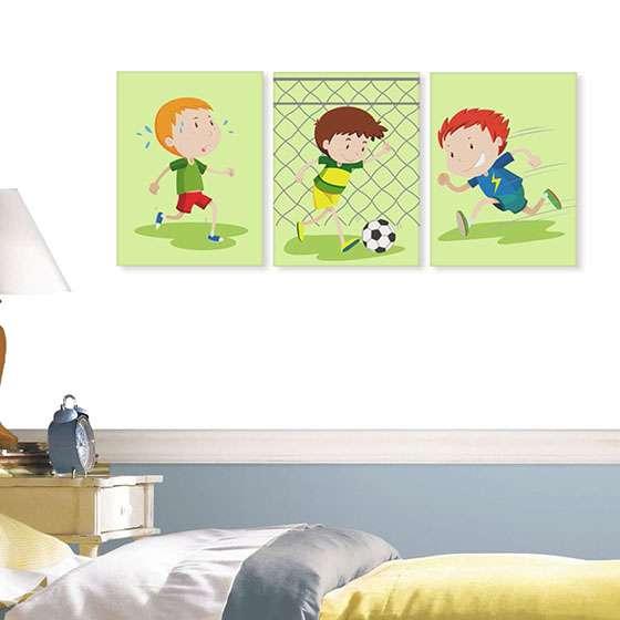 Quadro futebol infantil para decorar