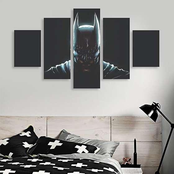 Quadro Batman Super Heroi 5 peças