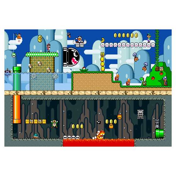 Quadro Games Super Mario Decorativo