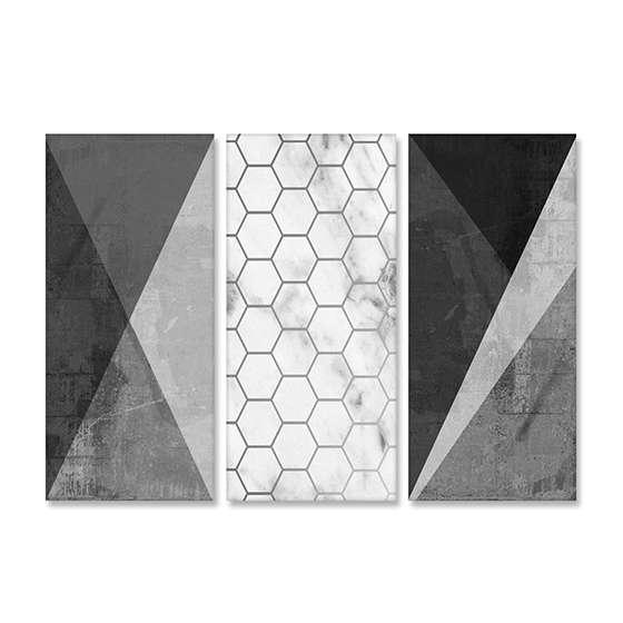 Quadro geometrico concreto decorativo