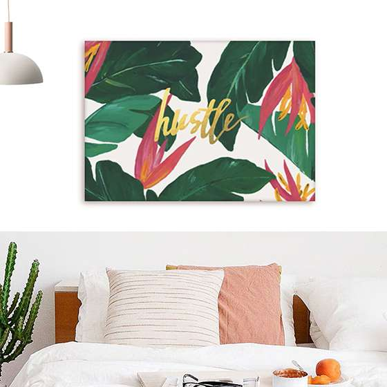 Quadro hustle flowers flores decorativas