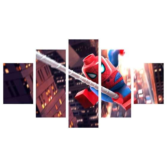 Quadro infantil lego homem aranha