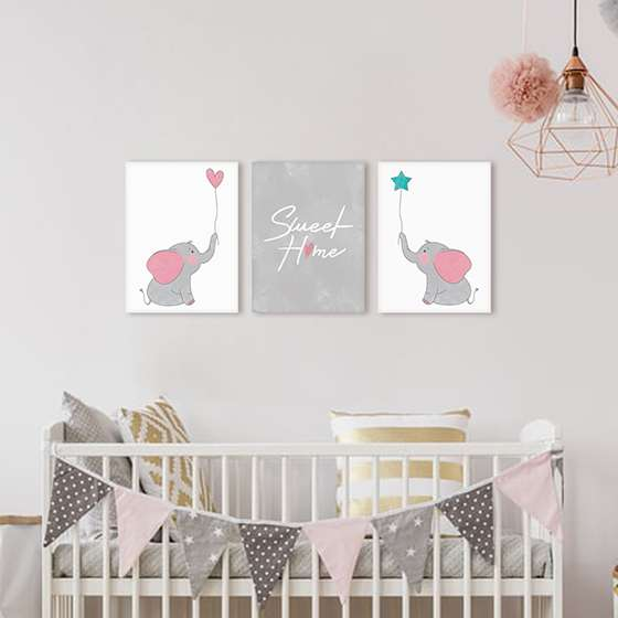 Quadro infantil sweet home baby decorativo ( doce lar )