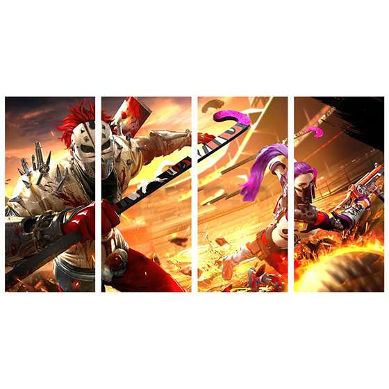 Quadro jogo free fire games on line decorativo