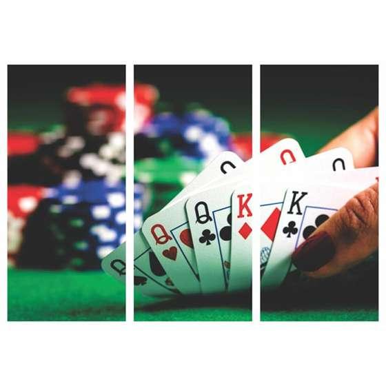 Quadro Mosaico Poker Baralho Para Decoração