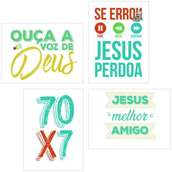Quadro kit evangelico jesus melhor amigo decorativo