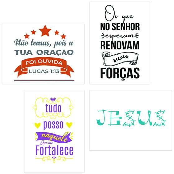 Quadro kit evangelico tua oração decorativo