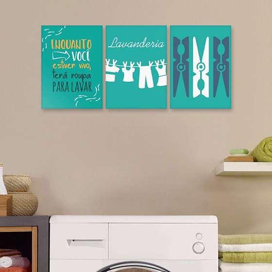 Quadro lavanderia frases decorativas