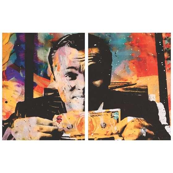 Quadro Filme Lobo De Wall Street para decoração com Leonardo Dicaprio