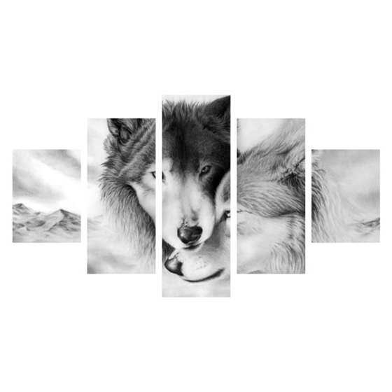 Quadro lobo decorativo