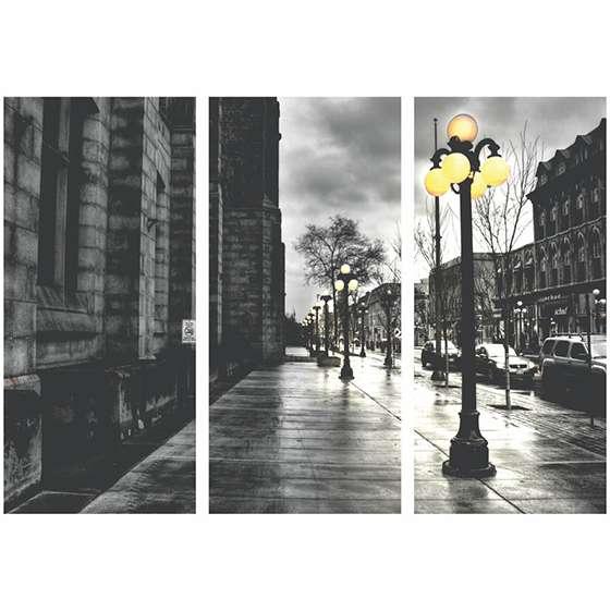 Quadro luminarias rua europa decorativo