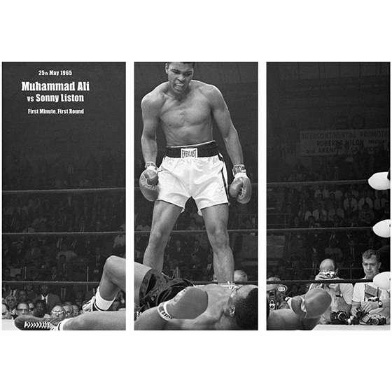 Quadro lutador Muhammad Ali boxe para decorar