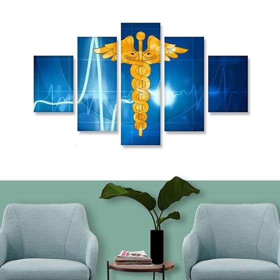 Quadro medicina decorativo profissoes