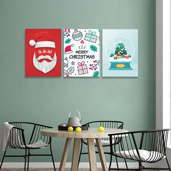Quadro merry christmas natalino decorativo